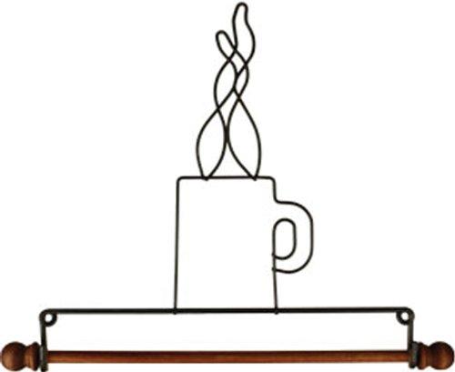 Classic Motifs Coffee Cup 7.5 Inch Fabric Holder With Dowel - Holder Fabric Ackfeld