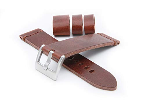 HELM Watches LS1 Leather Watch Strap - Tobacco (22mm)
