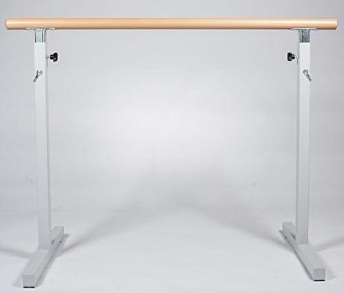 VEVOR Barre de Danse 4 m Barre Danse Classique Seule Barre Barre de Ballet 150 kg Barre Danse Mobile Anti-Rouille Barre de Danse Classique Mobile Hauteur R/églable Studio de Danse Gym /Étirement