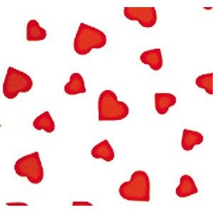 Pfeil & Holing Chocolate Transfer Sheet - Hearts - Red