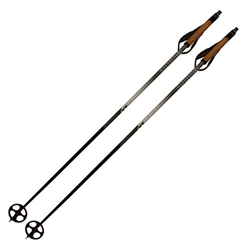 Alpina Sports XT Cross-Country Ski Poles, Silver/White, -