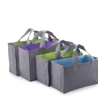 Expandable Shopping Trolley Bags/Totes - Pack of 4 lakeland