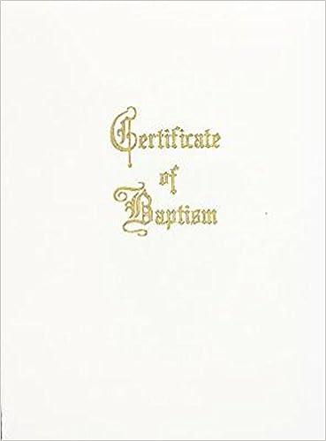 Baptism Certificate   Traditional Steel Engraved Child Baptism Certificate Pkg Of 3