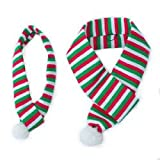 ZippyPaws Holiday Red-White-Green Scarf - Dog Accessory (Large)