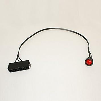 24 Pin Female ATX PSU Power Supply Starter Tester Start Up Jumper ON OFF Switch