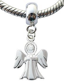 silver charms by bodytrend guardian angel design fits
