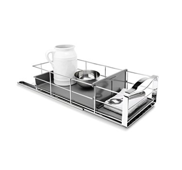 simplehuman 9 inch Pull-Out Cabinet Organizer, Heavy-Gauge Steel Frame by simplehuman