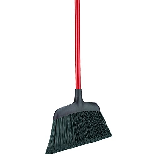 Libman Commercial 994 Commercial Angle Broom, 54'' Length, 13'' Width, Black/Red (Pack of 6)