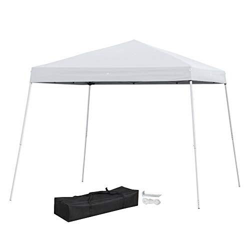 Yaheetech 10x10 Pop Up Canopy Tent Beach Sun Shade Easy Up Instant Shelter with Carrying Bag White (Best Easy Up Canopy)