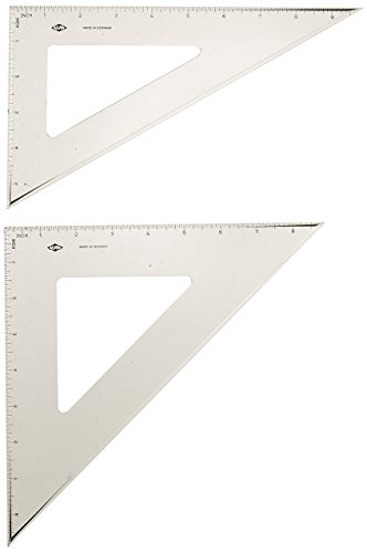- Alvin 10-Inch, 30/60 and 8-Inch 45/90 Triangle Set (ANLX810G)