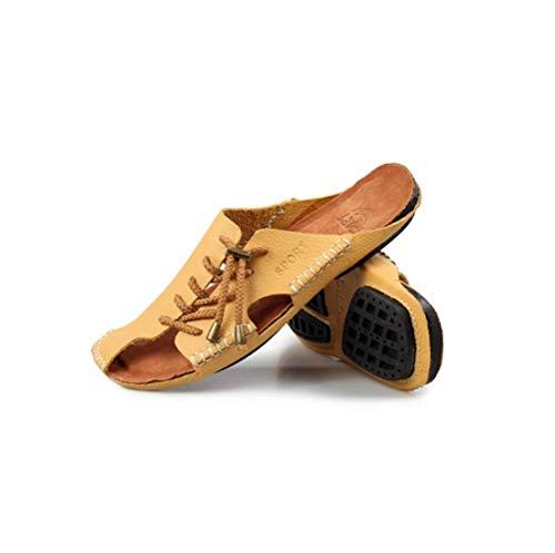 Verano Fashion Sandals Lyzgf Casual Hombres Slippers Yellow Juventud Baotou La Los Beach De gxw0wXSq