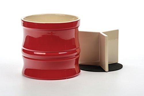 RSVP Red Stoneware Oversized Tool Crock (Large Stoneware Utensil Crock)