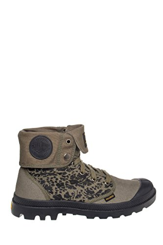 Mens Palladium Baggy SBTG Canvas Ankle Boot Lace-Up Olive Medium 9 D, M US Men