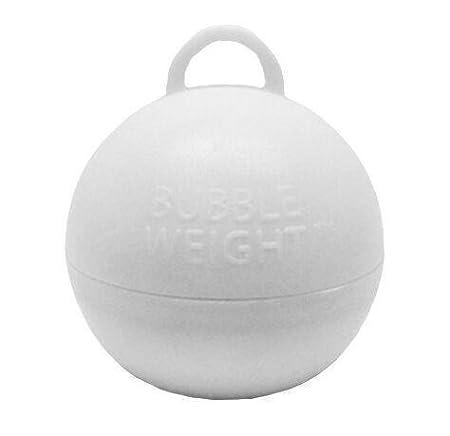 35 gramos burbujas balón peso (paquete de 5) color blanco: Amazon ...