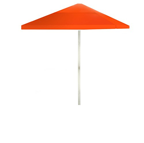 - Best of Times 1020W1319 Solid Orange 8 ft Tall Square Market Umbrella, One Size,