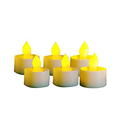 Candle Choice Set of 6 Flameless Tealights/Tea Lights with Dual-Time, 400-hour Battery Life