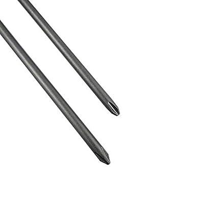 Wolfride 6Pcs 1/4 Inch Hex Shank Long Phillips Head Screwdriver Bits Set Magnetic Cross Head Screwdriver Bits | 5.9-Inch Length