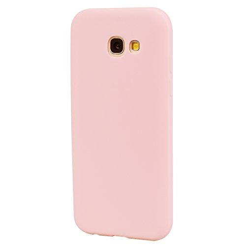 Funda Galaxy A5 2017 / A520 , SpiritSun Soft TPU Silicona Handy Candy Carcasa Funda para Samsung Galaxy A520 (5.2 Pulgadas) Suave Silicona Piel Carcasa Ultra Delgado y Ligero Goma Flexible Phone Case  Rosado
