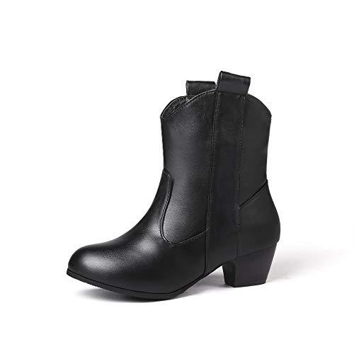 Boots Alti Donna Women s Basso Largo E Tacco Da Black Con Stivaletti dZRnn1 b30068f3cea