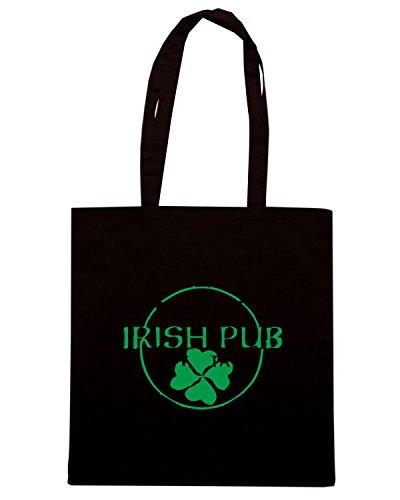 T-Shirtshock - Bolsa para la compra TIR0004 irish pub Negro