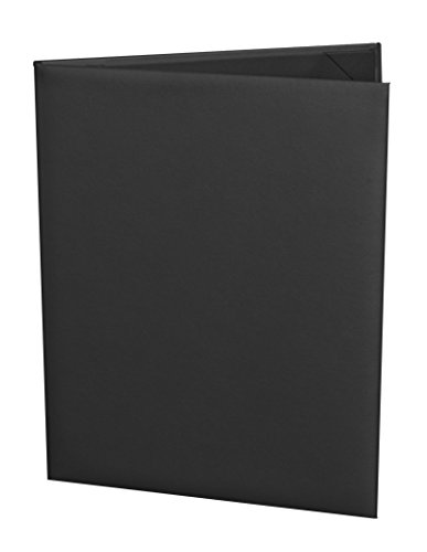 (10 Pack) Classic Faux Leather Menu Covers, 2-panel (8.5'' x 11'', Black) by Captivating Covers