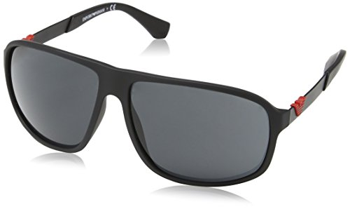 Emporio Armani EA 4029 Men's Sunglasses Black Rubber - Sunglasses Emporio