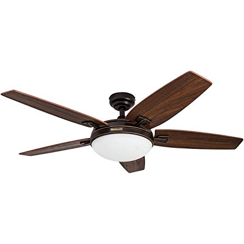 Outdoor 48 Inch Rubbed Bronze 2 Light Ceiling Fan in US - 8