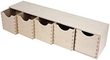 Wardrobe Organiser Desk Organiser Mini Wooden Chest of 6 Drawers Crafts /& Sewing Storage Drawers Pukkr Toy Storage Units