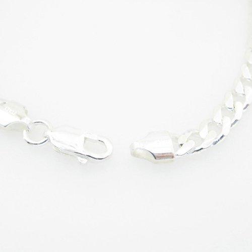 IcedTime 925 pour homme Argent Sterling Style cubain miami Corde Bracelets franco-fancy-swag Bracelet lien ID Curb Longueur: 7,5 cm x 5,5 mm