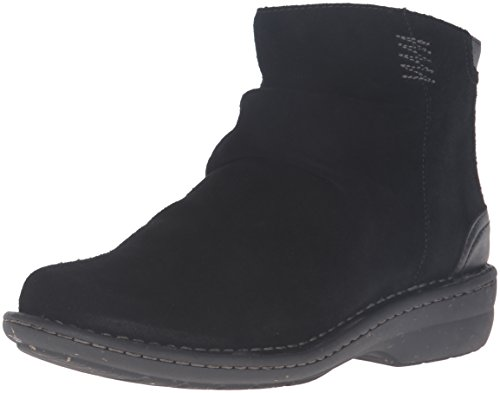 Clarks Women's Avington Swan Boot,Black Suede,8.5 M US