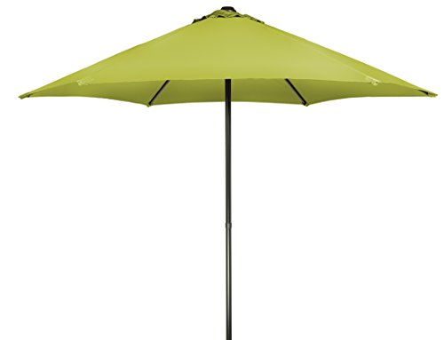 Trademark Innovations 9' Patio Umbrella with Push Up Function (Light Green)