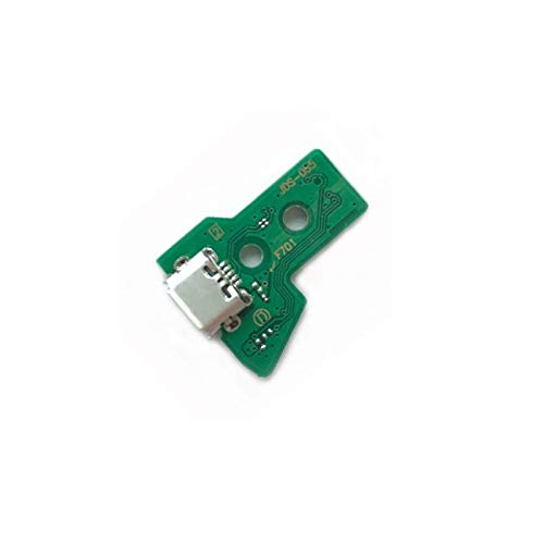 (Micro USB Charging Socket Port Circuit Board 12 Pin Power Flex Ribbon Cable for JDS-055 Sony Playstation PS4 Controller DualShock 4 )