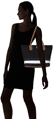 Sansibar Sansibar - Bolso de hombro Mujer Mehrfarbig (Black/White/Cognac)