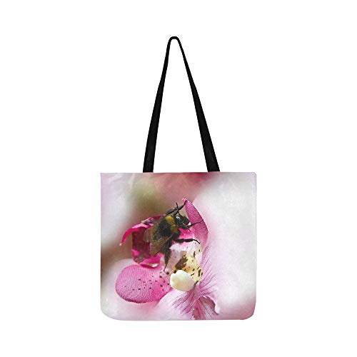 (Hummel Insect Art Flower Decoration Red Flowers 610460 Canvas Tote Handbag Shoulder Bag Crossbody Bags Purses For Men And Women Shopping Tote)
