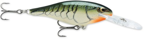 Rapala Shad Rap 6 Fishing Lure, Olive Green Craw, 2-1/2-Inch