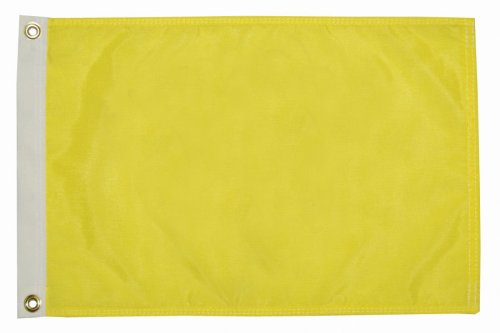 Taylor Made Products 32185 Solid Color Flag, Nylon, 12 inch x 18 inch, Yellow Quarintine Flag