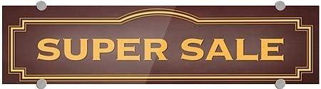 Super Sale 5-Pack 24x6 Classic Brown Premium Acrylic Sign CGSignLab