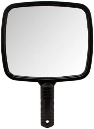 BLACK Large TV Salon Barber Hand Cosmetic Makeup Hair Stylist Mirror 7 X 8