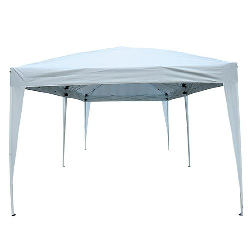 amazoncom outsunny easy pop up canopy party tent 10 x 20feet white sports fan canopies patio lawn u0026 garden