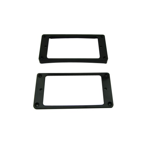 Musiclily Guitar Neck and Bridge Humbucker Pickup Frame Mounting Ring Set for Gibson Les Paul Replacement, Black(Pack of (Neck Guitar Gibson)