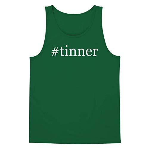 The Town Butler #Tinner - A Soft & Comfortable Hashtag Men's Tank Top, Green, Small