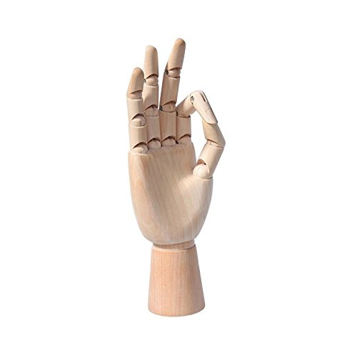 - UChic 1Pcs Wooden Hand Model Flexible Moveable Fingers Manikin Hand Figure both Left and Right Hand for Sketching Drawing Home Office Desk Posable Joints Kids Children Toys Gift 25.5CM/10inch