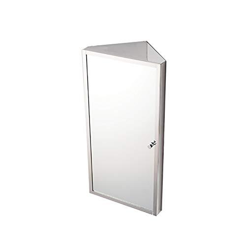 Stainless Steel Corner Bathroom Mirror Cabinet Triangle Locker Wall Cabinet Multipurpose Kitchen -