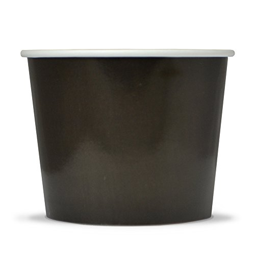Frozen Dessert Supplies 16 oz Black Paper Ice Cream Cups - Comes In Many Colors & Fast Shipping! 50 Count