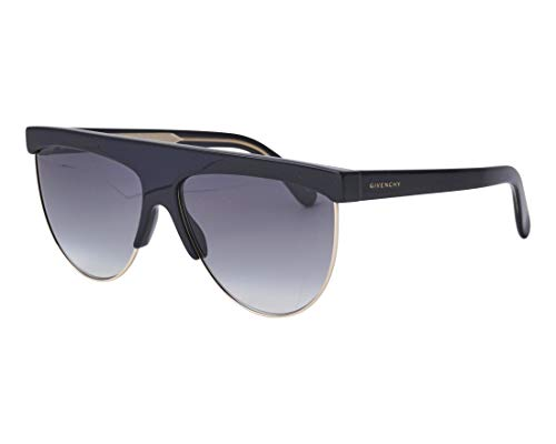 Givenchy Women's Rounded Shield Sunglasses, Black, One Size (Rounded Sunglasses Black)
