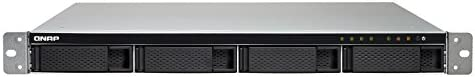 QNAP TS-432XU-RP NAS Bastidor (1U) Ethernet Negro - Unidad Raid (Unidad de Disco Duro, SSD, Serial ATA III, 0, 1, 5, 6, 10, JBOD, FAT32,HFS+,NTFS,ext3,ext4, Annapurna Labs, Alpine AL-324)