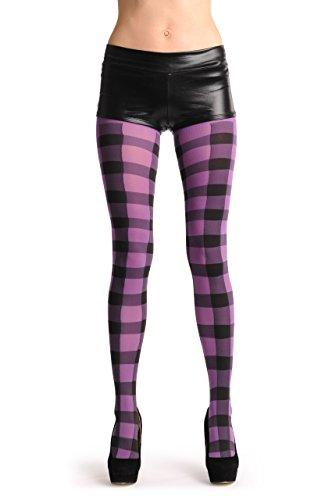 Checkered Thigh High Tights - 5