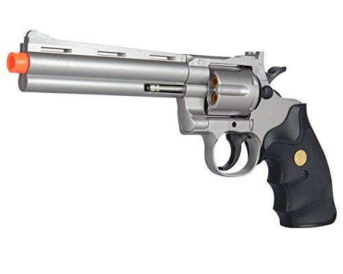 UKARMS Spring Airsoft Gun - 6 Shot 357 Magnum Revolver w/Shells + 6mm BBS - Magnum Air Pistol