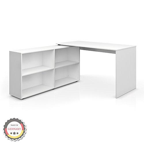 Winkelschreibtisch Eckschreibtisch Schreibtisch Computertisch Tisch Computerschreibtisch Weiß Sonoma (Weiß)