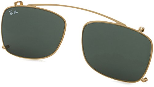Ray-Ban Men's RX5228C Eyeglasses Gold/Green 55mm (Ray Ban Clip On Sunglasses)